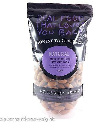 Honest To Goodness Insecticide Free Raw Almonds 500g (Resealable Bag)