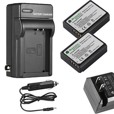 2 LP-E10 Battery Pack+Charger For Canon EOS Rebel T3 Rebel T5 EOS Digital Camera