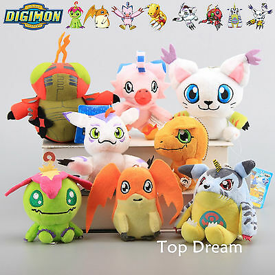 8X Digimon Adventure Digital Monster Character Agumon Plush Toy Soft Doll Teddy