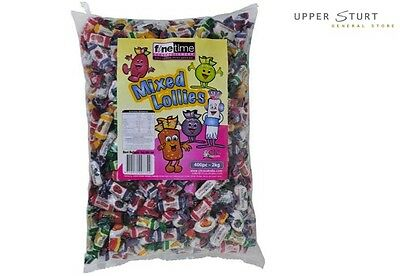 Fine Time Mixed Lollies 2KG. Individually Wrapped. FAST 'N FREE DELIVERY
