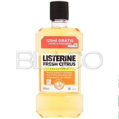 Listerine Colluttorio Fresh Citrus - 500Ml Igiene Dentale
