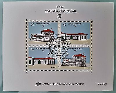 Portugal 1990 Sc # 1807 Europa Cept Europe Mini Sheet Mint Stamps Collection