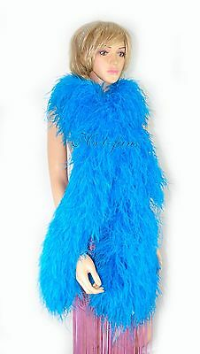 "turquoise 20 Layer Luxury luxurious fluffy Ostrich Feather Boa 2 yard (71""long )"