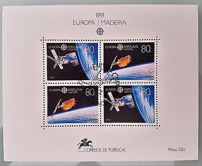 Portugal Madeira 1991 Sc # 152 Eutelsat II Mini Sheet Mint Stamps Collection