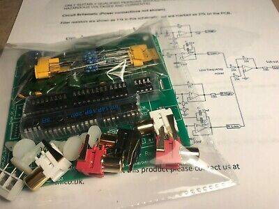 2.1 24dB/oct stereo active crossover with single sub output DIY KIT Buttkicker.