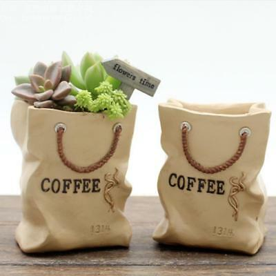 Shopping Bag Pot Planter for Flower Succulent Cactus Herbs Plant Bed Box