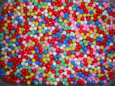 250  MULTI COLOURED 6m/m BEADS    ONLY £2.00