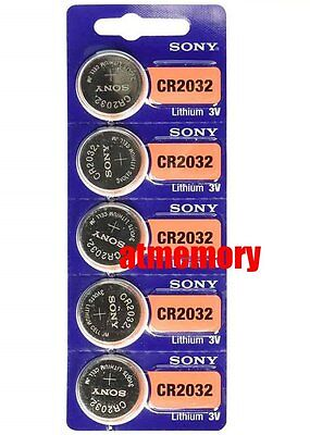 Sony CR2032 CR 2032 3V Button Coin Cell Battery x 5pcs Brand new Genuine EXP2028