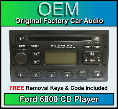 Ford Galaxy CD player, Ford 6000 car stereo with radio removal keys and code