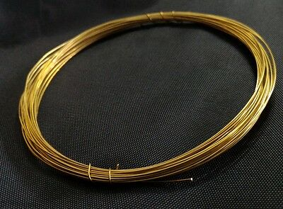 22 gauge 0.6mm SOFT SOLID BRASS BEADING WIRE FINDING CRAFT CUSTOM JEWELRY 8ft