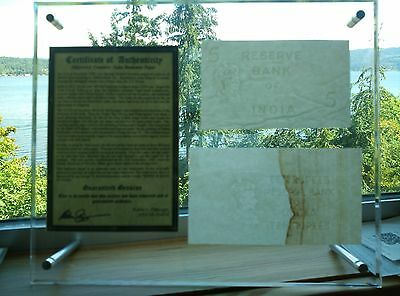 [With Frame] British India 10,5 Rupees Shipwreck Watermark Cut Notes.Great Gift!