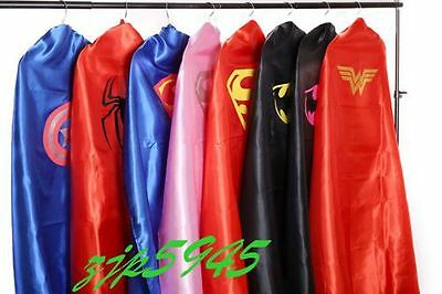 90cm/140cm Adult Superhero Cape and masks Halloween Costume Party Favors