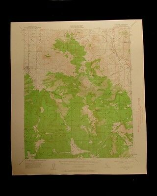 Loyalton California Nevada vintage 1960 original USGS Topographical chart