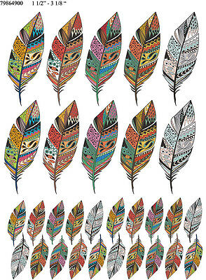 Waterslide Decals Winter Feathers 79864900 FOOD SAFE LEAD FREE