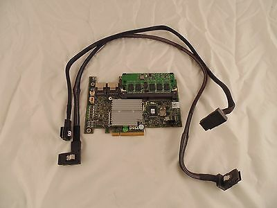 Dell XXFVX 0XXFVX 342-1623 PERC H700 w/512MB and SAS Cables Raid Card SS3 M