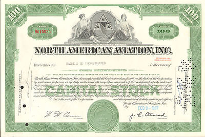North American Aviation stock certificate > now Boeing