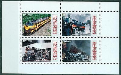Turkmenistan 1998 Trains S/s Mnh M14238
