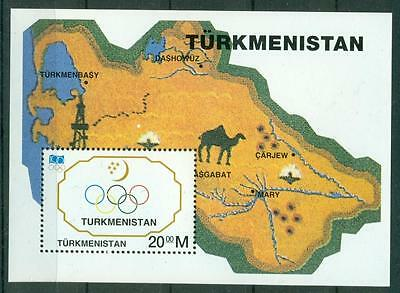 Turkmenistan 1995 100Th Anniv. Of Ioc S/s Mnh M14227
