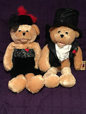 """NWT Chantilly Lane 22"""" Fred and Ginger Bears sing 2 different songs *RARE*"""