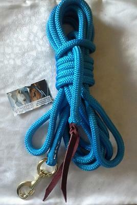 22ft Lead Rope with Snap - LOTS OF COLOURS- Dressage, Reining, Horsemanship NEW!
