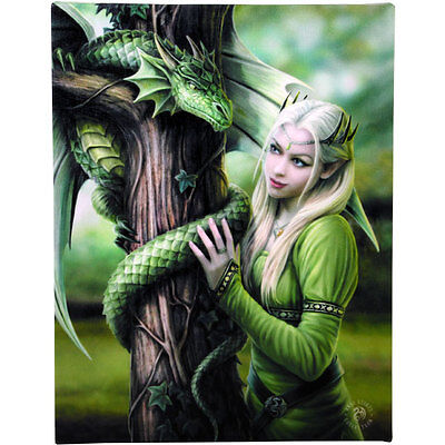 """Kindred Spirits Canvas Wall Plaque by Anne Stokes 10"""" x 7"""""""