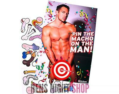 Pin the Macho on the Man Hens Night Party Bachelorette Bridal Shower Adult Game