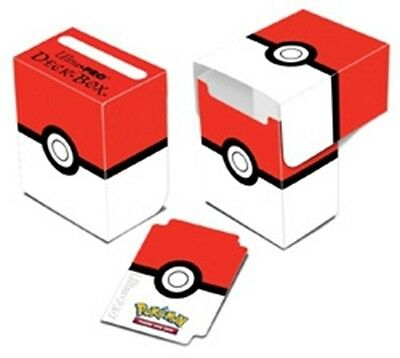 Ultra Pro Pokemon Red White Pokeball Deck Box NEW