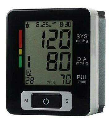 Lychee Automatic Digital Wrist Blood Pressure Monitor Heart Beat Upper LCD