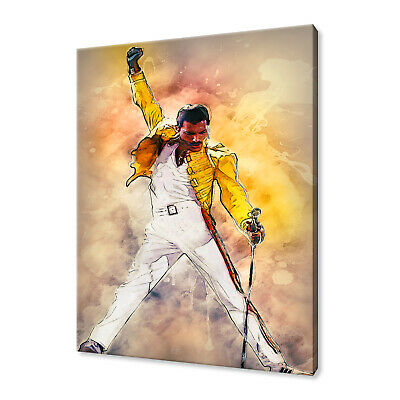 Freddie Mercury Canvas Wall Art Pictures Print Variety Of Sizes Free Uk P&p