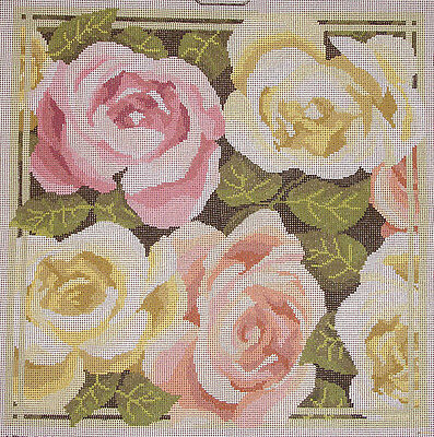 Pink & Yellow Roses – new Semco tapestry canvas