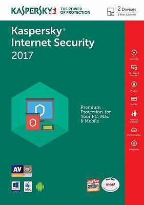 Kaspersky Internet Security 2016 2Pc/1Year,multidevice,delivery,antivirus, No Cd