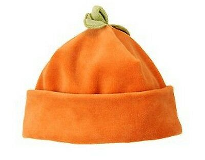 Gymboree Fall Halloween Thanksgiving Costume Velour Orange Pumpkin Boy Girl Hat