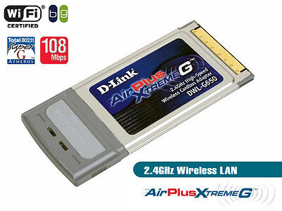 D-Link DWL-G650 Wireless Cardbus Adapter Wifi 802.11g 108Mbps PCMCIA PC Card 11g