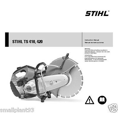 Genuine Stihl Saw Owners Instruction Manual Book 0458 370 0121 TS410 TS420