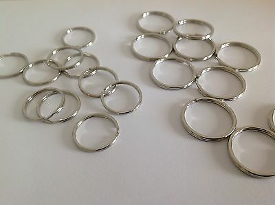 SS 5mm 10mm 25mm 30mm Round Split Rings For Key Rings Bags Purses