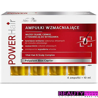 JOANNA Power Hair Strenghthening Ampoules Weak Thinning Falling Out 4x10ml JN011