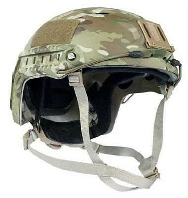 US Helm FAST PJ Army Helmet w. Rails Multicam Trainingshelm w Rails