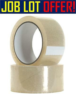 360 Rolls Of Packing Packaging Clear Tape Brand New Sealed 30m Wholesale Joblot
