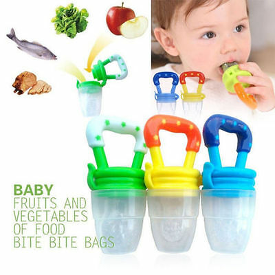 Baby Weaning Feeding Dummy Pacifier Fresh Food/Fruit Feeder,Teething + FREE GIFT