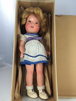 """1930s MIB 11"""" Ideal Composition Shirley Temple"""