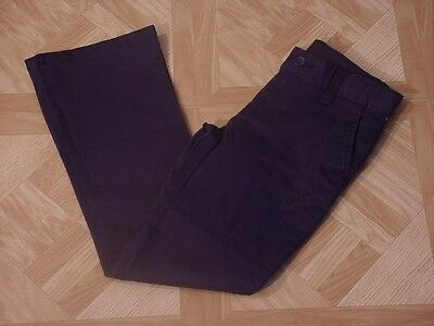 George Girls School Uniforms Navy Blue Flat Front Pants with Stain Resistant 10