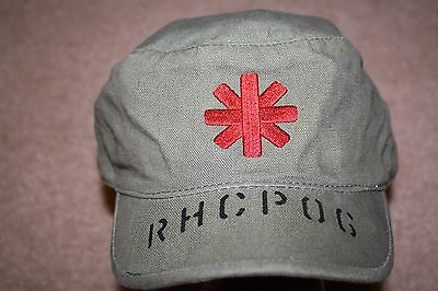 Rare Red Hot Chili Peppers RHCP Army Style Camo Cap Green Military 2006 HTF