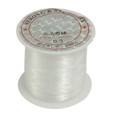 Beading Thread 0.3mm Dia. Clear Nylon Fishing LIne Spool 17 Lbs B3