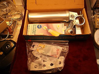 "Rare Nos Older Vtg ""cookie Chef, Trig-O-Matic Cookie Gun"" Never Used, All Pieces"