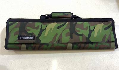 Messermeister 8pc Knife Carry Case Chef Bag Padded Roll Camouflage Cook Camo