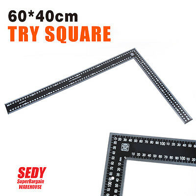 600x400mm Try Square Triangle Ruler Measure Measuring Ruler Angle Mitre Ruler