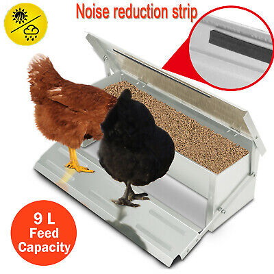 4.7kg Automatic Aluminum Chicken Feeder Treadle Chook Poultry FULLY ASSEMBLED
