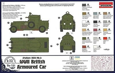 RD731 1/72 RODEN British Armoured Car (Pattern1920 Mk.I)