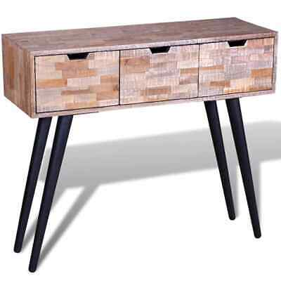 B#Console Table Reclaimed Teak Handmade with 3 Drawers Living Room Furniture