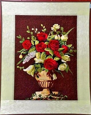"""2016 New Needlepoint finished completed embroidery""""RED ROSES""""wall decor"""